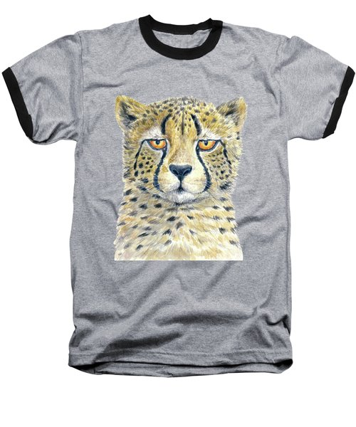 Cheetah Baseball T-Shirt by Katerina Kirilova