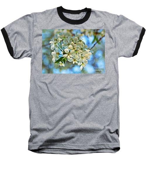 Cherry Tree Flowers Baseball T-Shirt