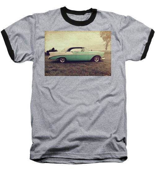 Baseball T-Shirt featuring the photograph Chevy Bel Air by Joel Witmeyer