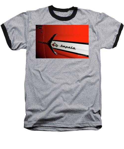 Chevy Impala Baseball T-Shirt by Pamela Walrath