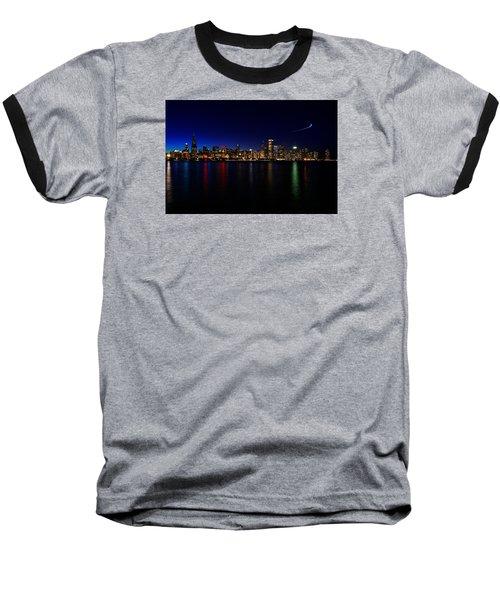 Baseball T-Shirt featuring the photograph Chicago-skyline 3 by Richard Zentner