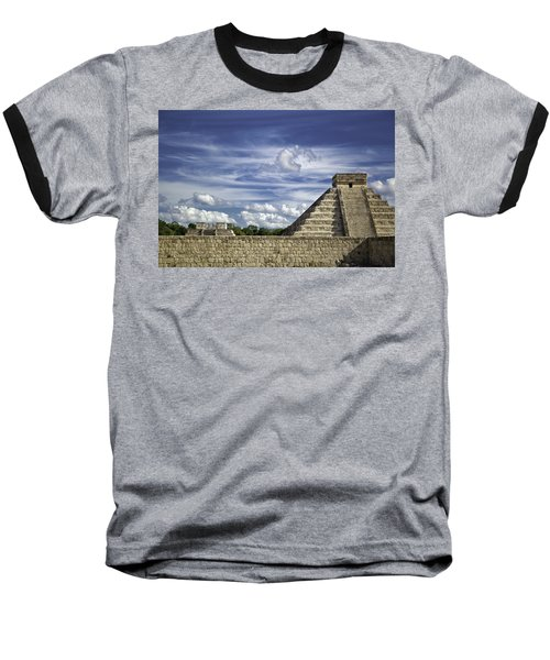Baseball T-Shirt featuring the photograph Chichen Itza, El Castillo Pyramid by Jason Moynihan