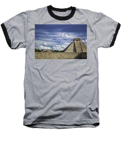 Chichen Itza, El Castillo Pyramid Baseball T-Shirt