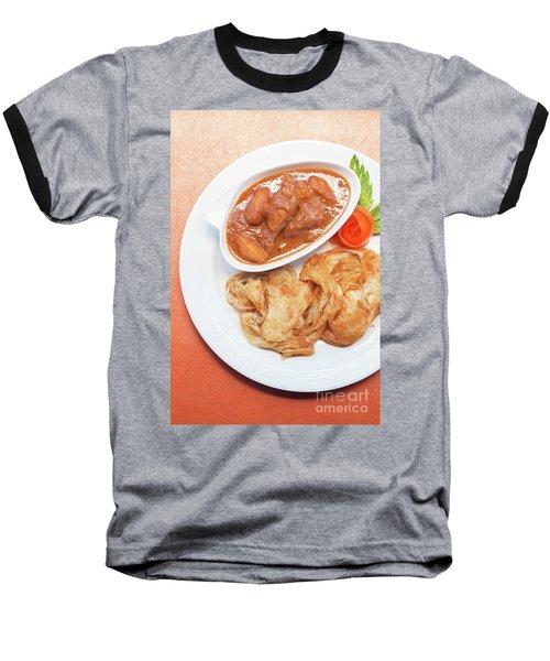 Baseball T-Shirt featuring the photograph Chicken Massaman Curry by Atiketta Sangasaeng