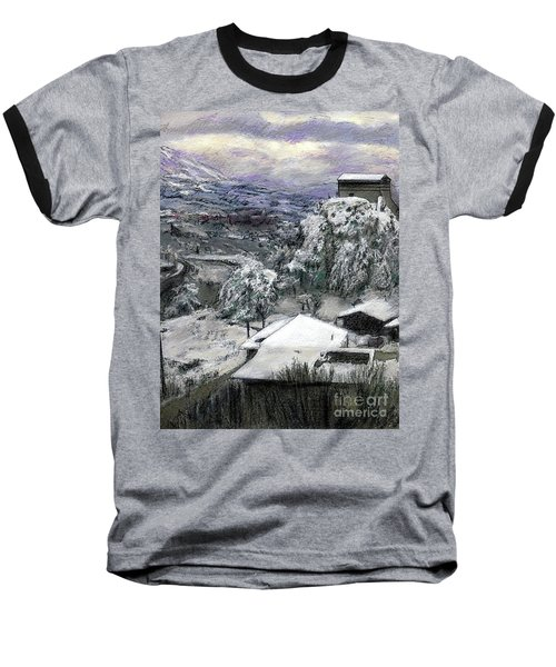 Chiesa San Vito In The Snow Baseball T-Shirt