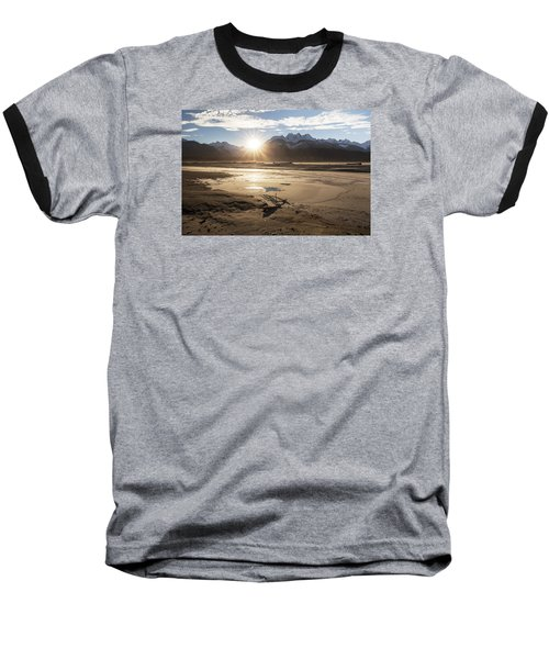 Chilkat River Sunset Baseball T-Shirt by Michele Cornelius
