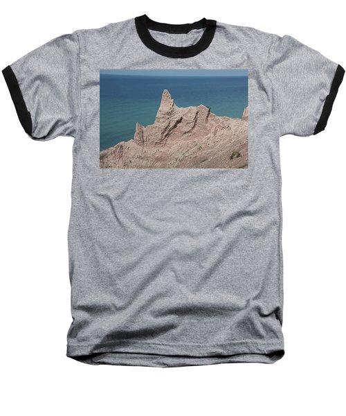 Chimney Bluffs Baseball T-Shirt