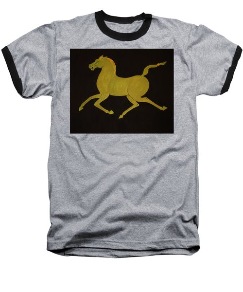 Chinese Horse #2 Baseball T-Shirt by Stephanie Moore