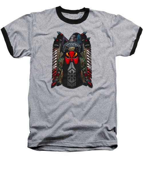 Chinese Masks - Large Masks Series - The Red Face Baseball T-Shirt