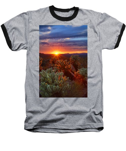 Cholla Sunset  Baseball T-Shirt