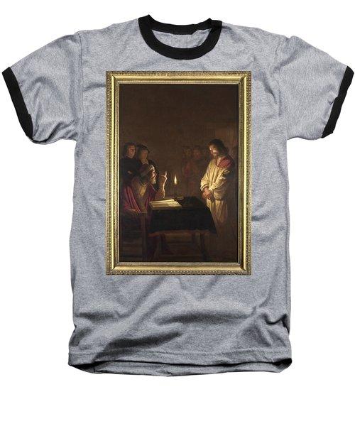 Christ Before The High Priest Baseball T-Shirt by Gerrit van Honthorst