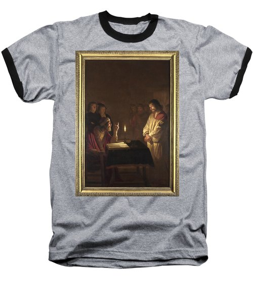 Christ Before The High Priest Baseball T-Shirt