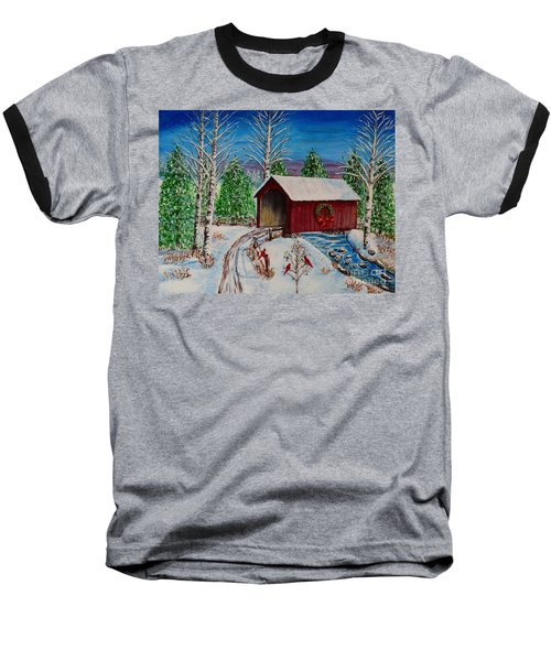 Christmas Bridge Baseball T-Shirt by Melvin Turner