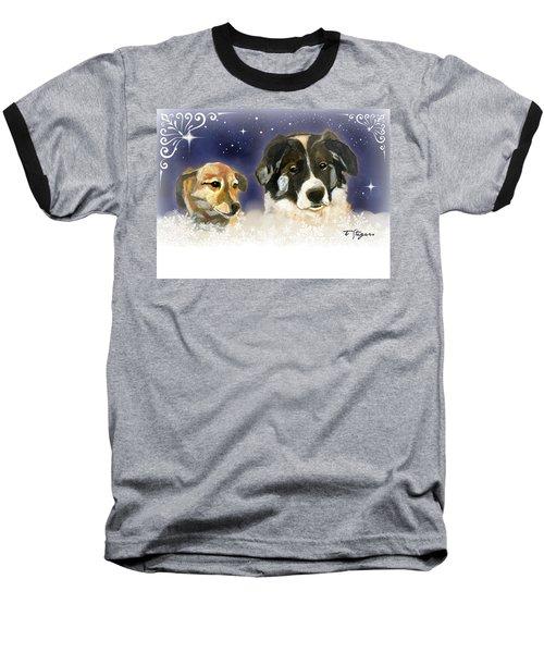 Christmas Doggies Baseball T-Shirt
