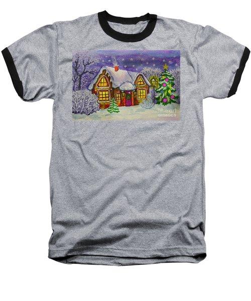 Christmas House, Painting Baseball T-Shirt