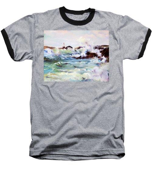 Churning Surf Baseball T-Shirt