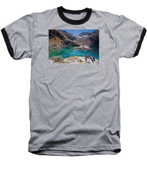 Churup Lake Baseball T-Shirt by Aivar Mikko