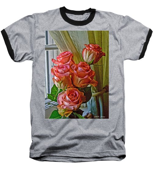 Baseball T-Shirt featuring the photograph Cindy's Roses by Bonnie Willis