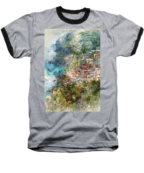 Cinque Terre In Italy Baseball T-Shirt