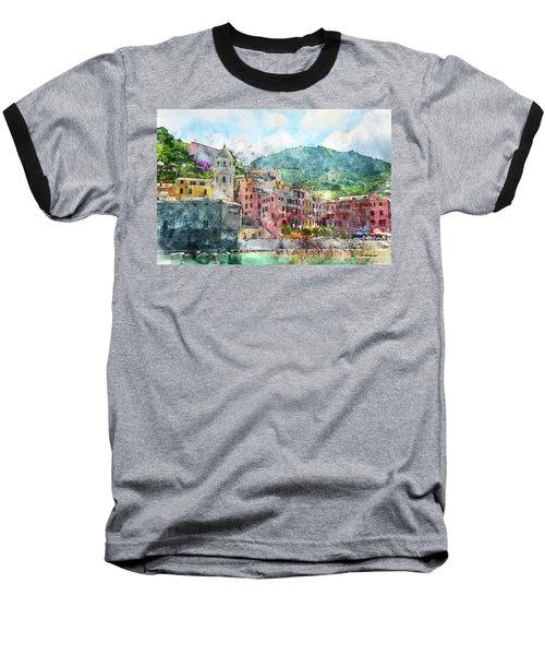 Cinque Terre Italy Baseball T-Shirt