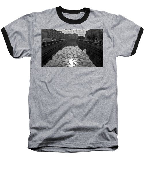 City Reflected In The Water Channels Baseball T-Shirt