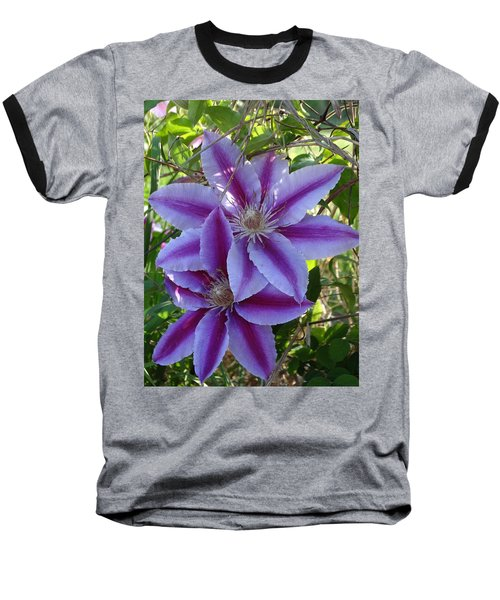 Baseball T-Shirt featuring the photograph Clematis Petals by Rebecca Overton