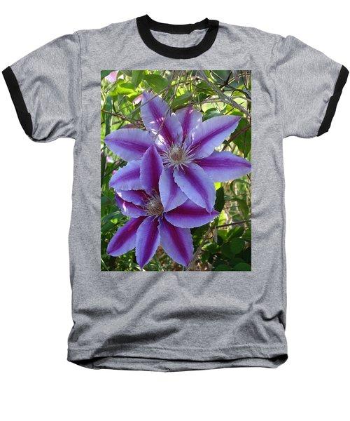 Clematis Petals Baseball T-Shirt