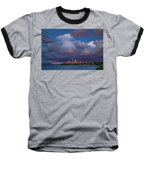 Baseball T-Shirt featuring the photograph Cleveland Skyline  by Emmanuel Panagiotakis