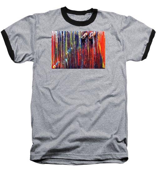 Climbing The Wall Baseball T-Shirt by Ralph White