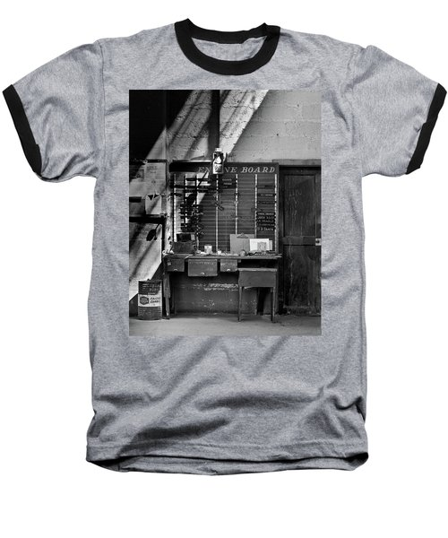 Clocked Out Baseball T-Shirt by Jeffrey Jensen