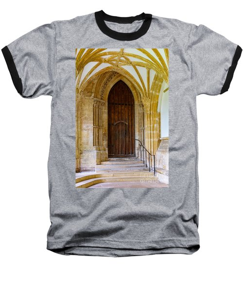 Cloisters, Wells Cathedral Baseball T-Shirt by Colin Rayner