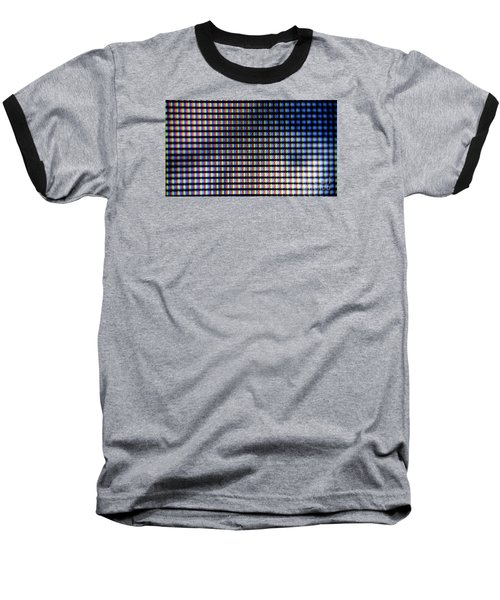 Baseball T-Shirt featuring the photograph Clouseup Of The Plasma Tv Screen by Odon Czintos