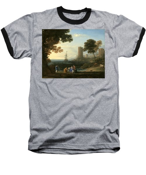 Coast View With The Abduction Of Europa Baseball T-Shirt