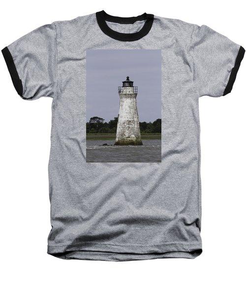 Cockspur Lighthouse Baseball T-Shirt by Elizabeth Eldridge