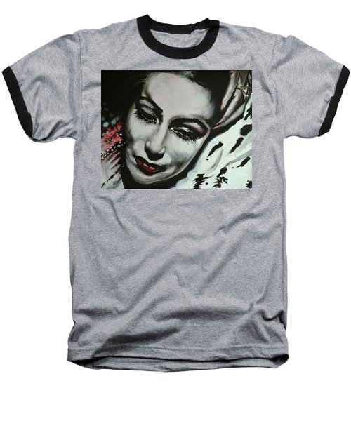 Baseball T-Shirt featuring the painting Dolores by Sandro Ramani
