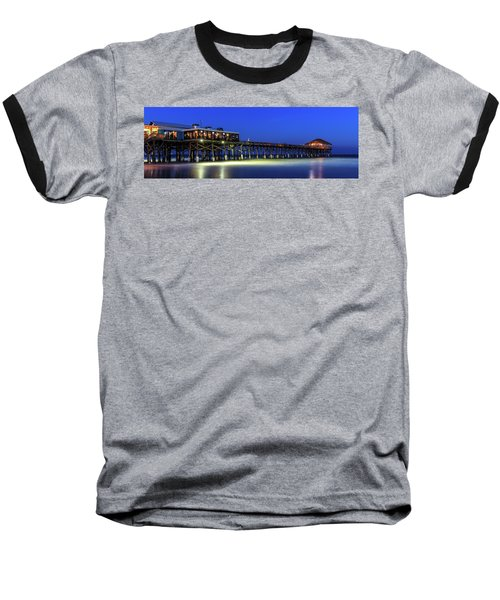 Cocoa Beach Pier At Twilight Baseball T-Shirt
