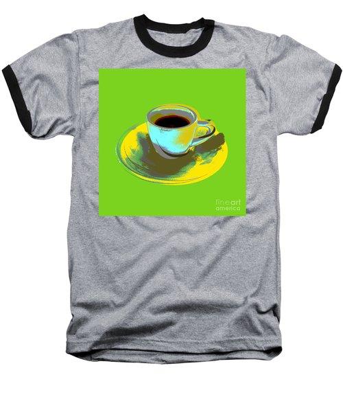 Baseball T-Shirt featuring the digital art Coffee Cup Pop Art by Jean luc Comperat