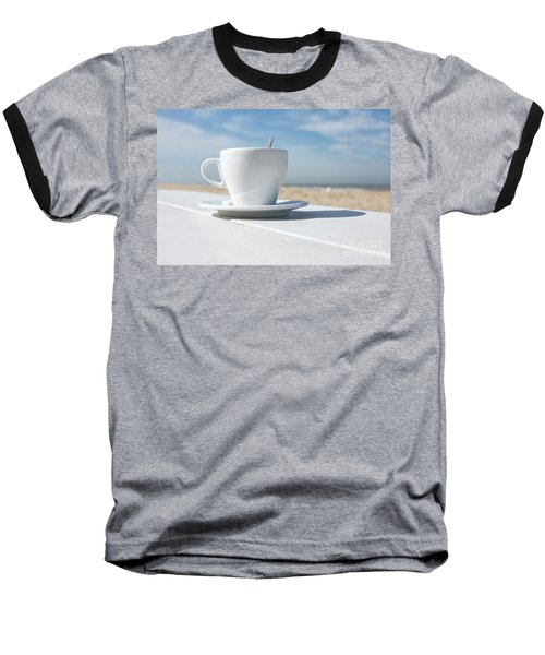Baseball T-Shirt featuring the photograph Coffee On The Beach by Patricia Hofmeester