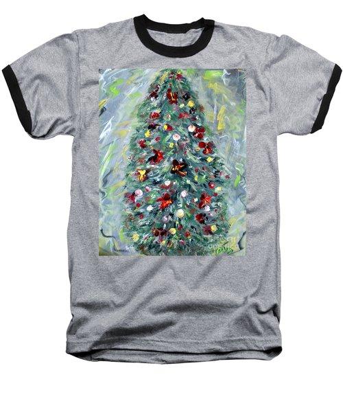 Christmas Tree. Green Baseball T-Shirt