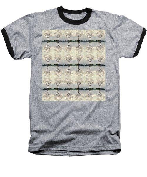 Colorado Cottonwood Tree Mirror Image  Baseball T-Shirt