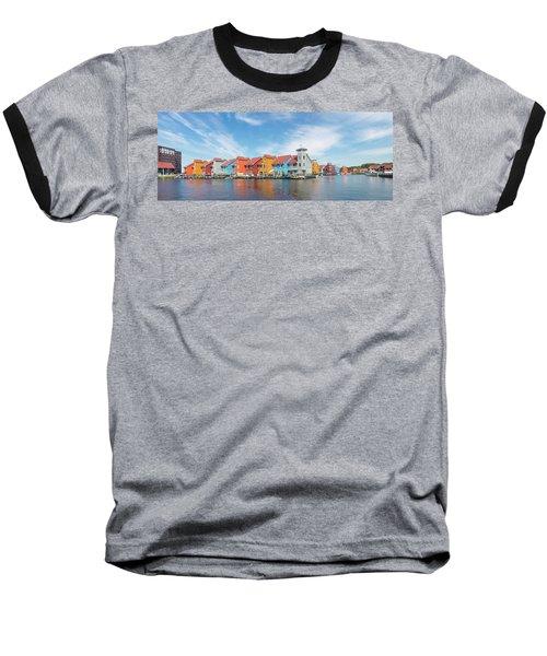 Colorful Buildings Baseball T-Shirt