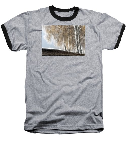 Colorful Misty Forest Baseball T-Shirt by Odon Czintos