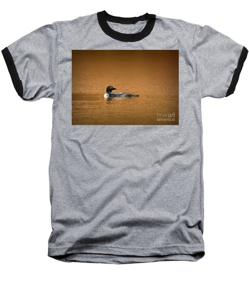 Common Loon Baseball T-Shirt