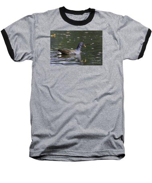 Baseball T-Shirt featuring the photograph Common Moorhen by Jivko Nakev