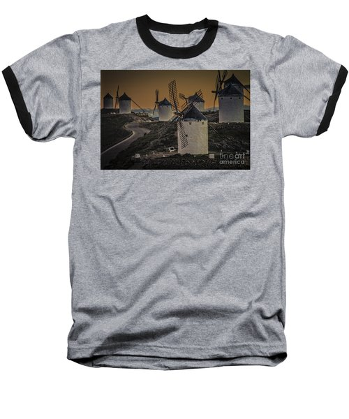 Baseball T-Shirt featuring the photograph Consuegra Windmills 2 by Heiko Koehrer-Wagner