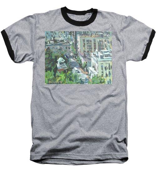 Contemporary Richmond Virginia Cityscape Painting Baseball T-Shirt by Robert Joyner