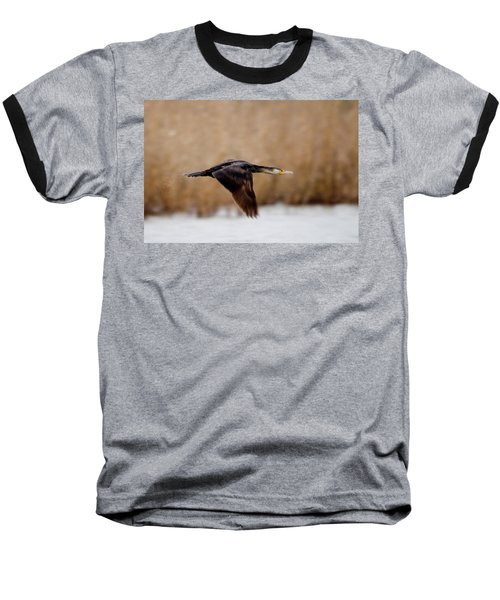 Cormorant In Flight Baseball T-Shirt