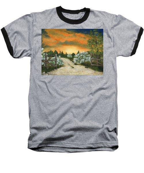 Baseball T-Shirt featuring the painting Country Road by Anastasiya Malakhova