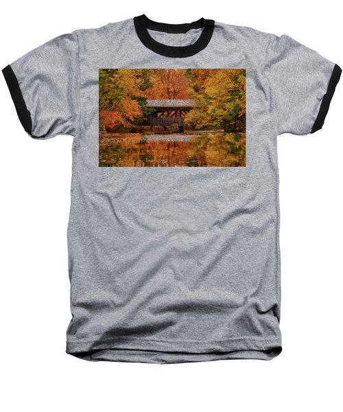 Covered Bridge At Sturbridge Village Baseball T-Shirt