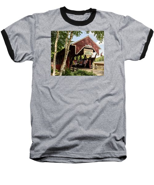 Covered Bridge Gift Shoppe Baseball T-Shirt by Sherman Perry